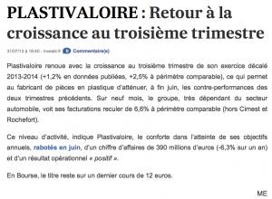 Article sur lesechos.fr du 31/07/2013