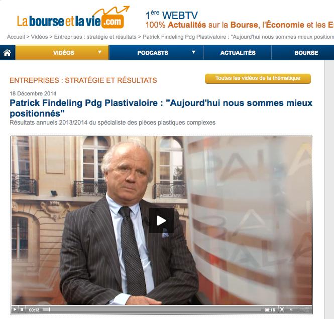 Interview réalisée par le journaliste Didier Testot sur la Web Tv labourseetlavie.com